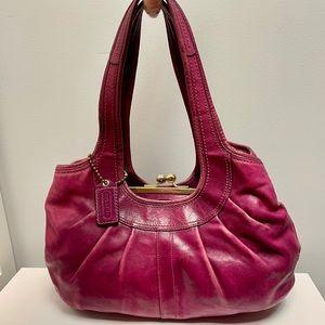Ergo Leather Pleated Coach Bag